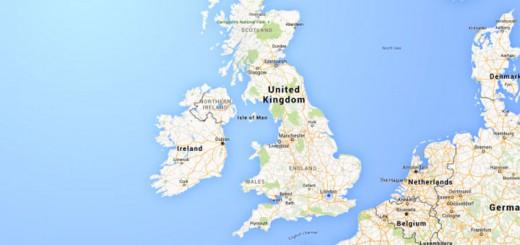 На острове Великобритания выпадает много осадков